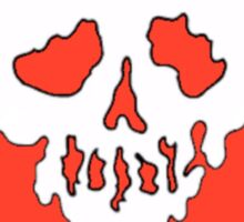 LIMITED EDITION//red//skull heart//DROP DEAD Sticker