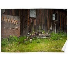 Old Mining Town Poster