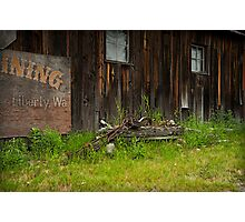 Old Mining Town Photographic Print