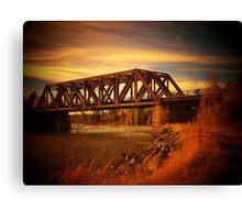 Train Bridge - Tunnel Island - Kenora Canvas Print