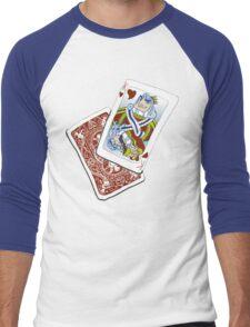 King O' Hearts Men's Baseball ¾ T-Shirt