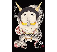 hannya and snake Photographic Print