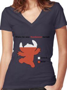 Stitch Badness Women's Fitted V-Neck T-Shirt