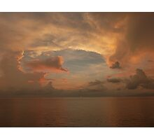 sunset with clouds II - puesta del sol con nubes Photographic Print