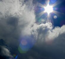 Azure Skies and Sun Beams - Black Sturgeon Lake - Kenora by Samantha Zroback