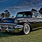 Black 1957 Chevrolet Belair Coupe by Ferenghi