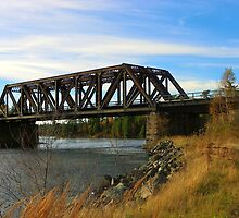 Full Colour Version Of the Tunnel Island Train Bridge - Kenora by Samantha Zroback