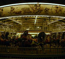 Carousel Ponies by Night by Mattie Bryant