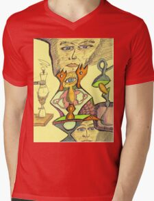 gene e + Mens V-Neck T-Shirt