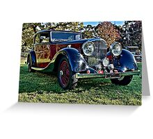 Red and Black Vintage Bentley Greeting Card