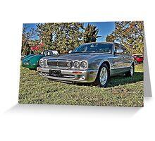 Silver Jaguar XJ Saloon Greeting Card