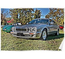 Silver Jaguar XJ Saloon Poster