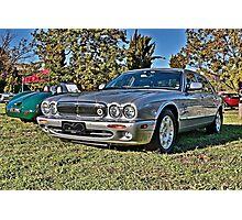 Silver Jaguar XJ Saloon Photographic Print