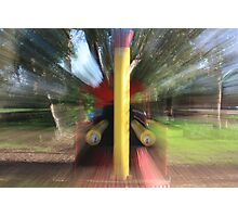 Swirling Locomotion Photographic Print