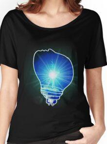 Lightbulb Blue Women's Relaxed Fit T-Shirt