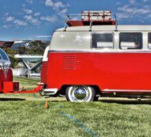 Volkswagen Microbus with matching Caravan Sticker
