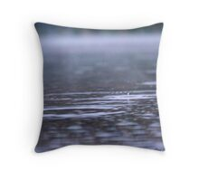Raindrops in the Mist Throw Pillow