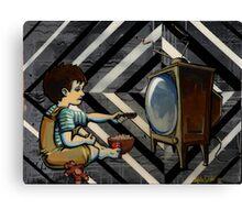 TV Zombie Canvas Print