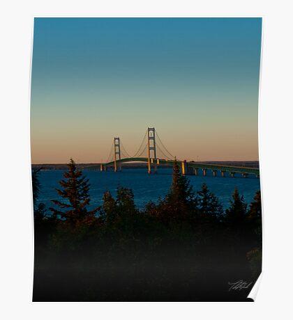Mackinac Bridge 100410 Poster