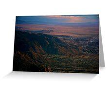 Sundown across the valley Greeting Card