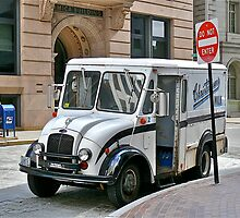 Milk Truck Delivery In The Financial District - Providence, Rhode Island by Jack McCabe