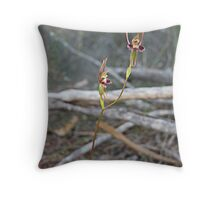 Hare Orchid Throw Pillow