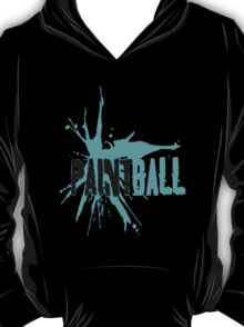 Paintball Aqua Blue-Black T-Shirt