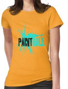Paintball Aqua Blue-Black Womens Fitted T-Shirt