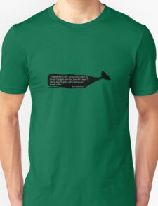 Black whale moby dick quote geek funny nerd Unisex T-Shirt