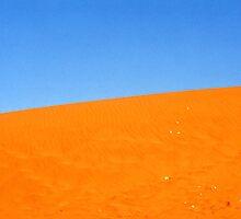 Blue on Orange in the Australia Desert by Michael John