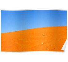 Blue on Orange in the Australia Desert Poster