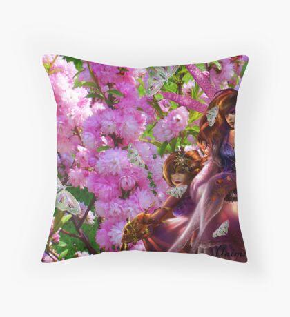 Pink Fantacy Throw Pillow