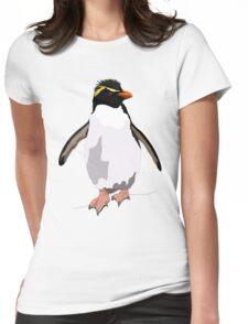 Bird - Illustration - Rockhoper Penguin Womens Fitted T-Shirt