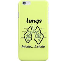 Body parts human lungs geek funny nerd iPhone Case/Skin