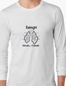 Body parts human lungs geek funny nerd Long Sleeve T-Shirt
