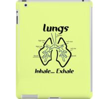 Body parts human lungs geek funny nerd iPad Case/Skin