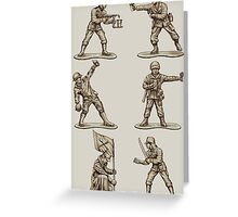 FASTFOOD SOLDIERS Greeting Card
