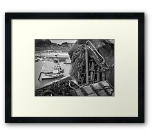 Tangle of fishing nets Framed Print