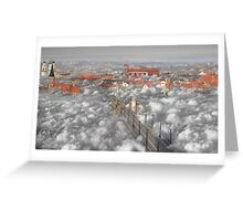 When the clouds descend Greeting Card