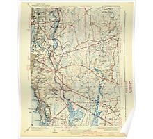 Massachusetts  USGS Historical Topo Map MA East Providence 351654 1941 31680 Poster