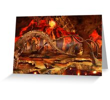 Heat surrounded Greeting Card