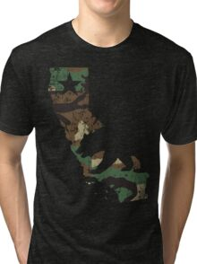 Camouflage California State  Tri-blend T-Shirt