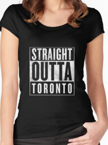 Straight Outta Toronto Women's Fitted Scoop T-Shirt