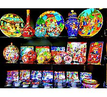 Ceramics for sale in Istanbul! Photographic Print