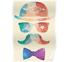 Hipster Mustache Poster
