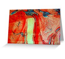 Waterfall-Abstract Greeting Card