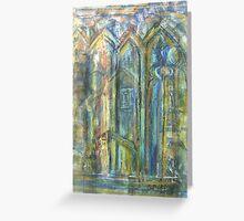 Skipton Castle Windows 1 Greeting Card