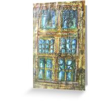 Skipton Castle Windows 2 Greeting Card