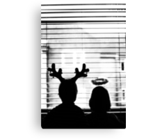 Waiting for Santa: Christmas card, happy Holidays Canvas Print