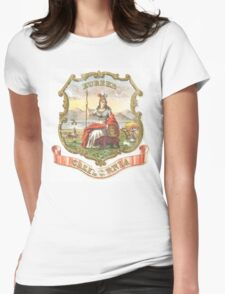 Vintage California State Seal Womens Fitted T-Shirt